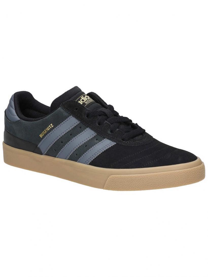 adidas Busenitz Vulc Core Black/Onix/Gum | Mens Skate Shoes