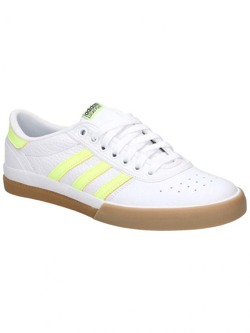 adidas Lucas Premiere Ftwr White/Hi-Res Yellow/ | Mens Skate Shoes