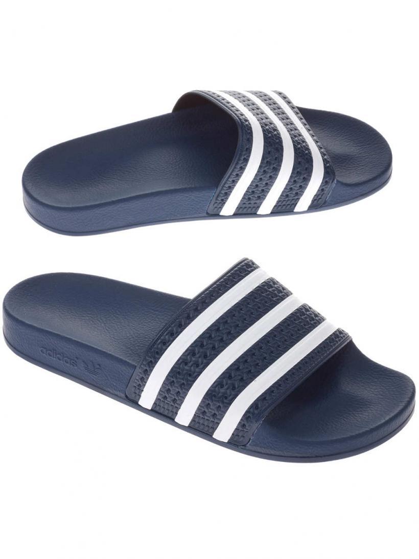 adidas Originals Adilette Adi Blue/White | Mens Sandals
