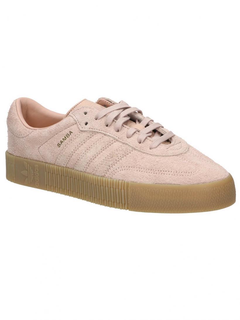 adidas Originals Sambarose Ash Pearl/Ash Pearl/Gum | Mens/Womens Sneakers