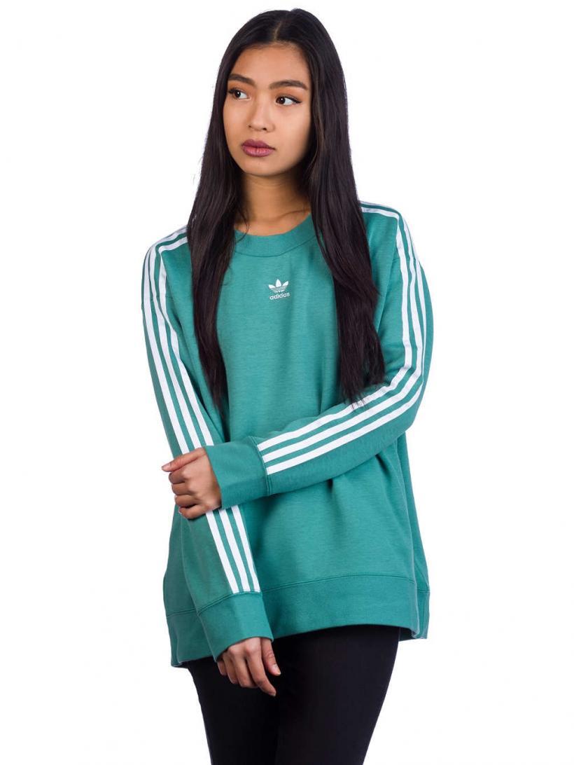 adidas Originals Trefoil Crew Sweater Future Hydro F10 | Womens Pullovers