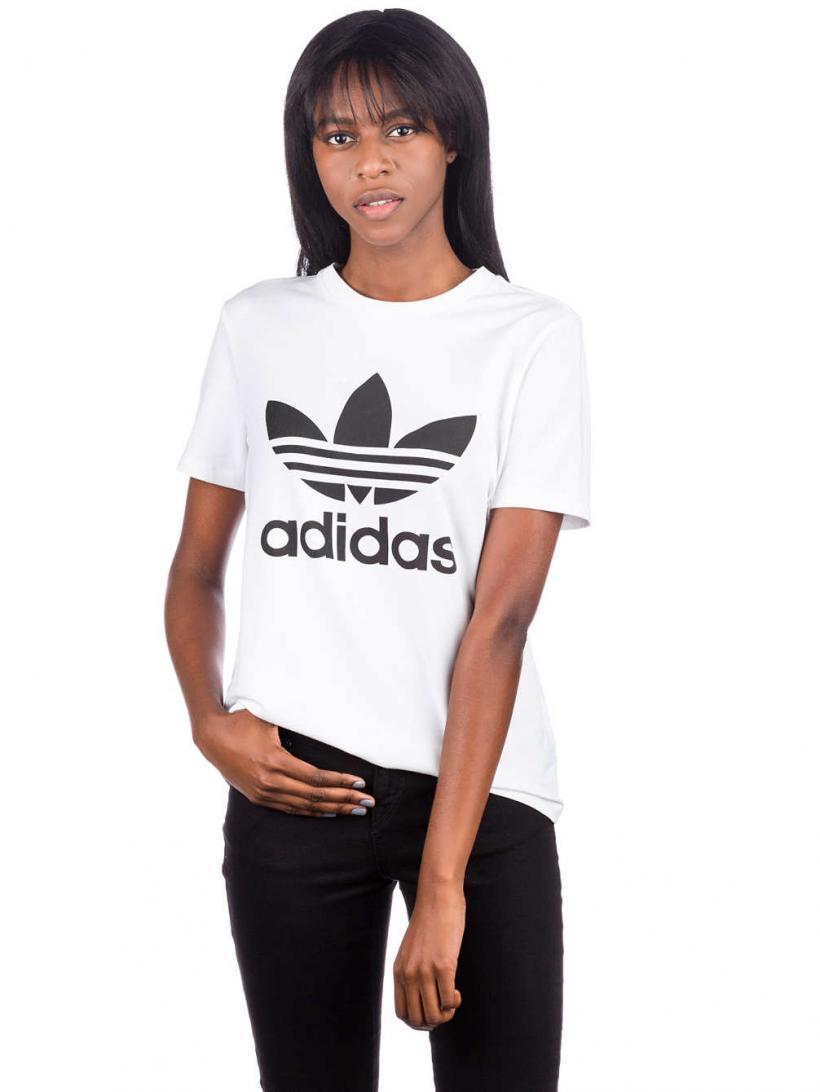 adidas Originals Trefoil T-Shirt White/Black | Mens/Womens T-Shirts