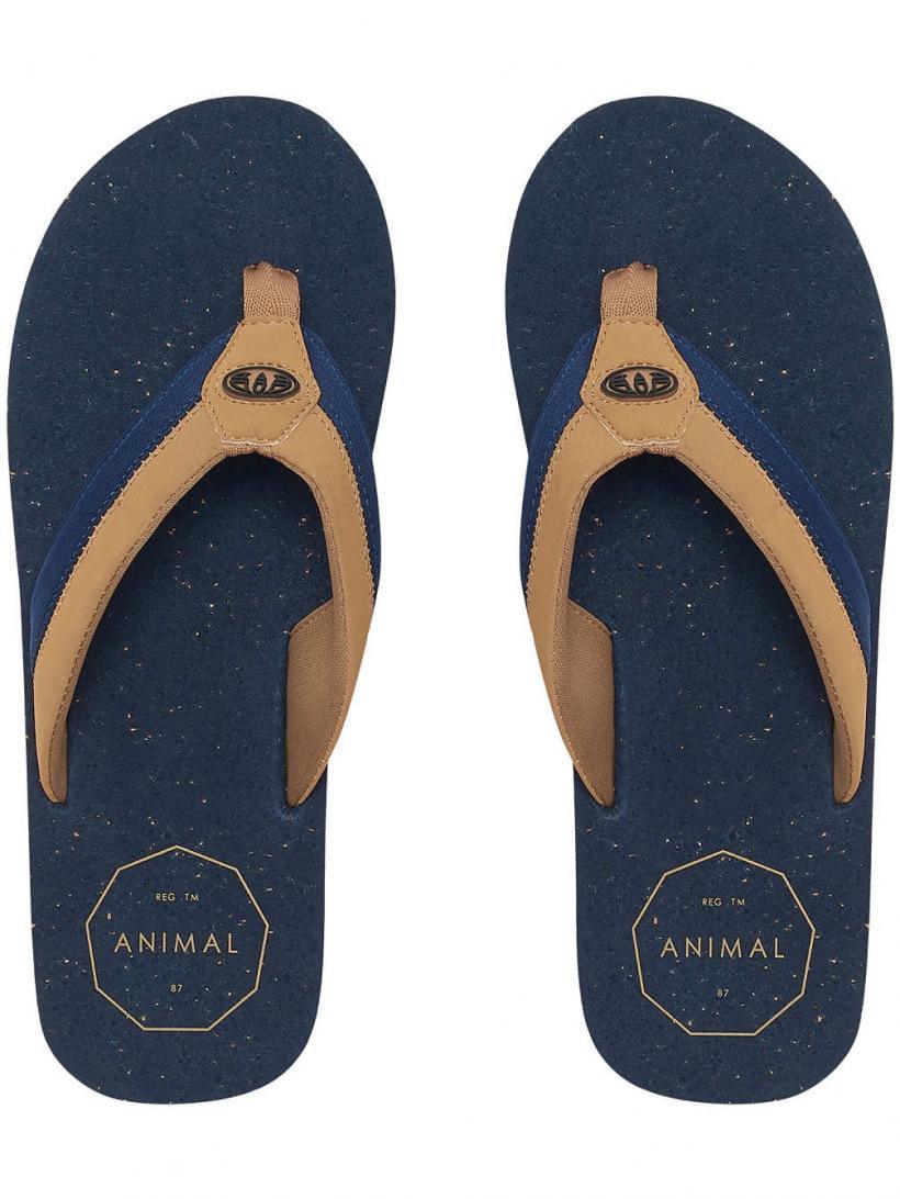 Animal Huxley Dark Navy | Mens Sandals