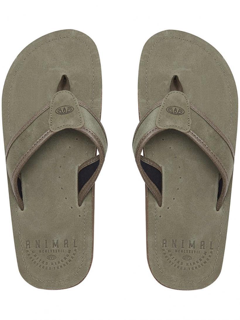 Animal Jekyl Leather Brown | Mens Sandals