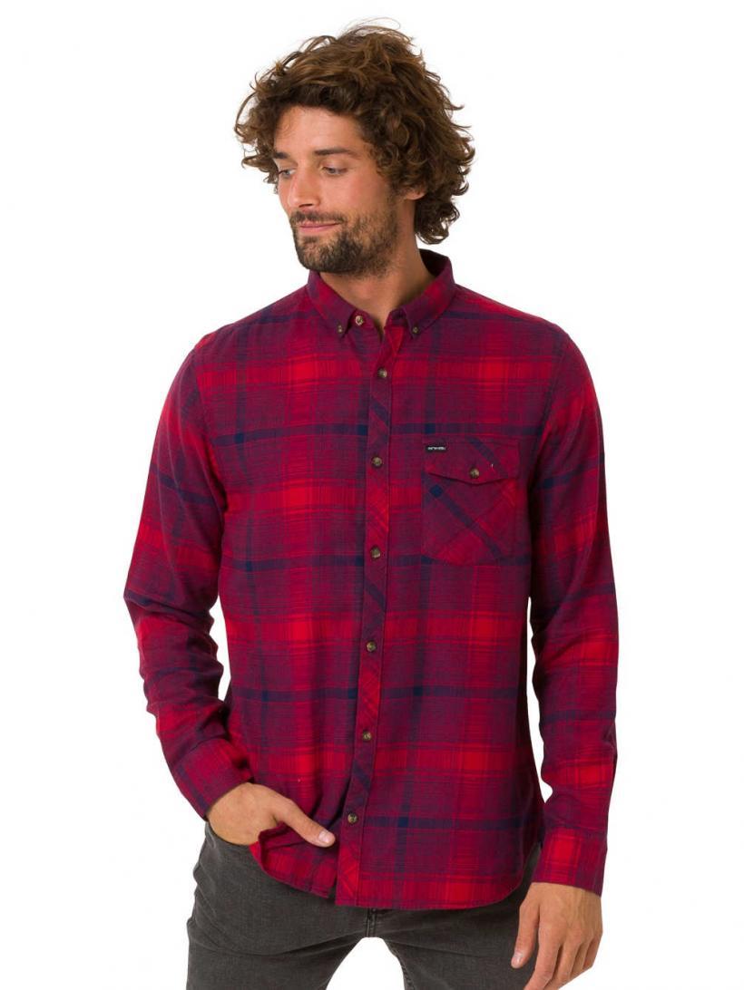Animal Shadow Shirt LS Red | Mens Shirts