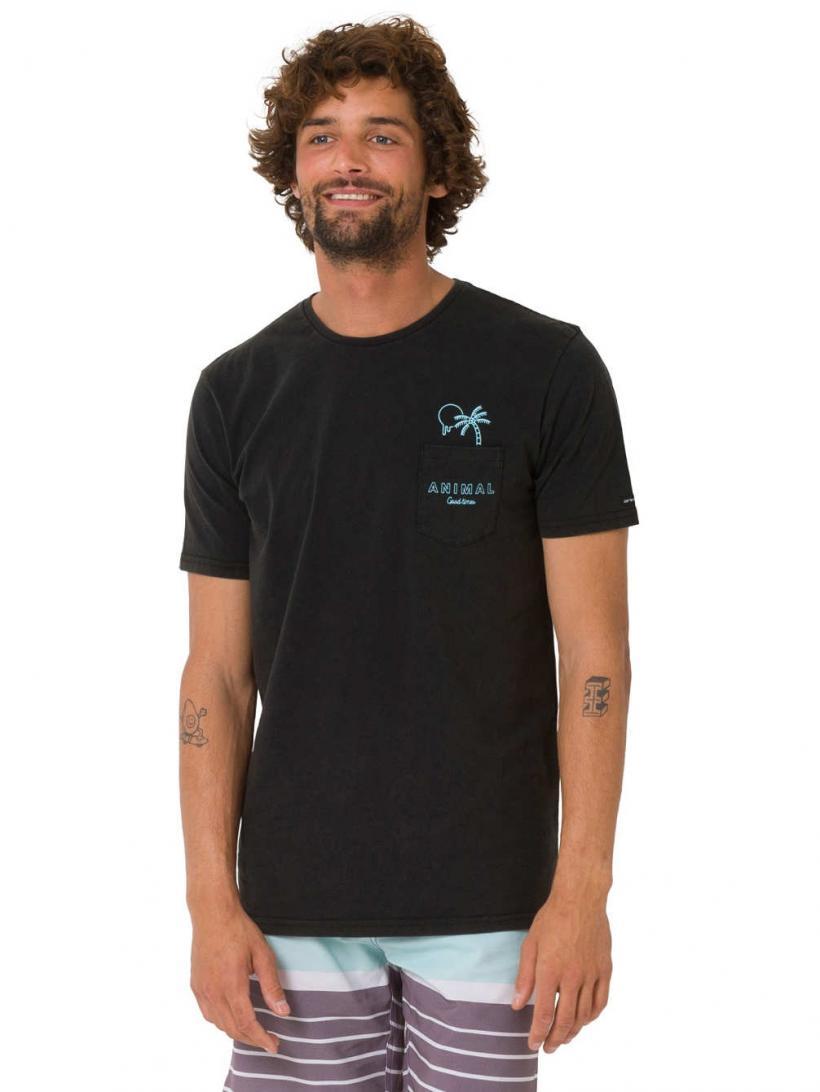 Animal Venice T-Shirt Black | Mens T-Shirts