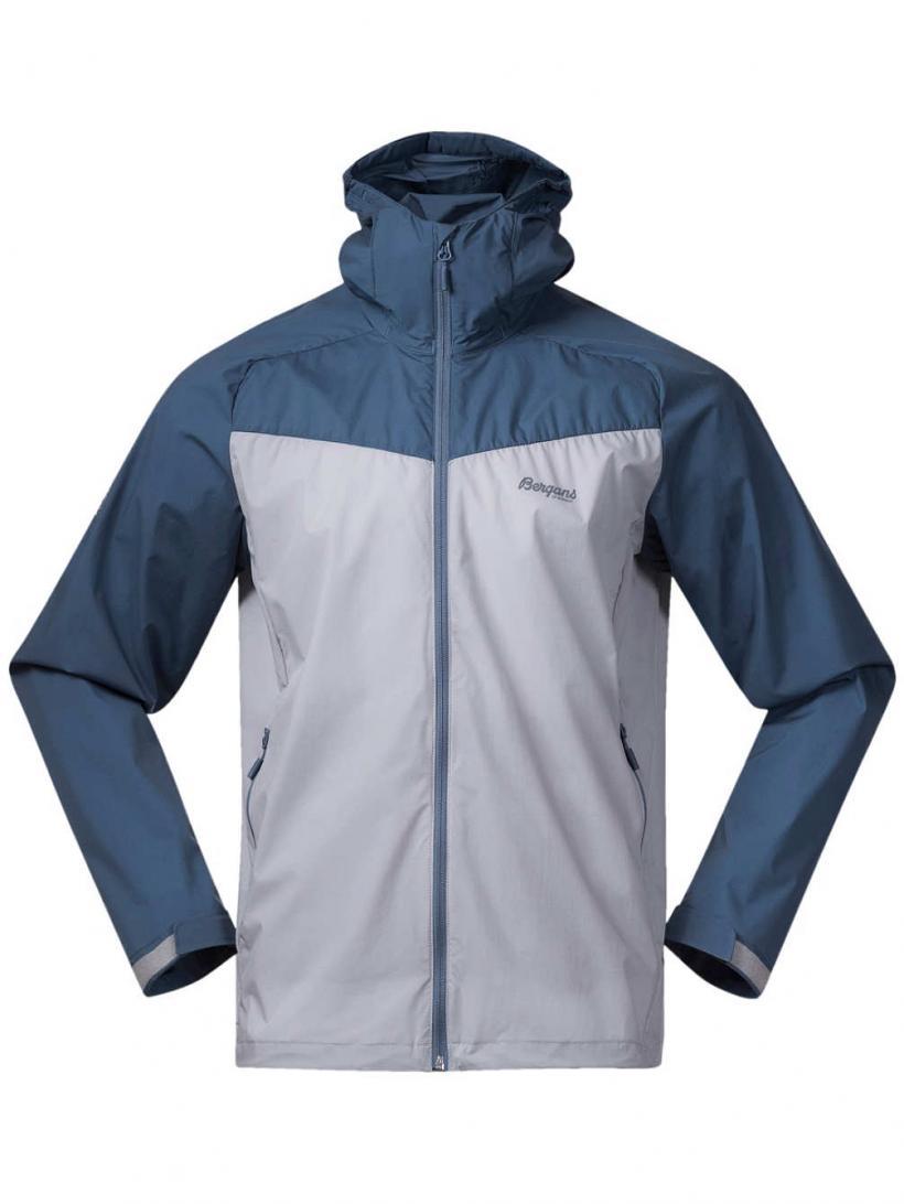 Bergans Microlight Outdoor Jacket Alu/Fogblue | Mens Jackets