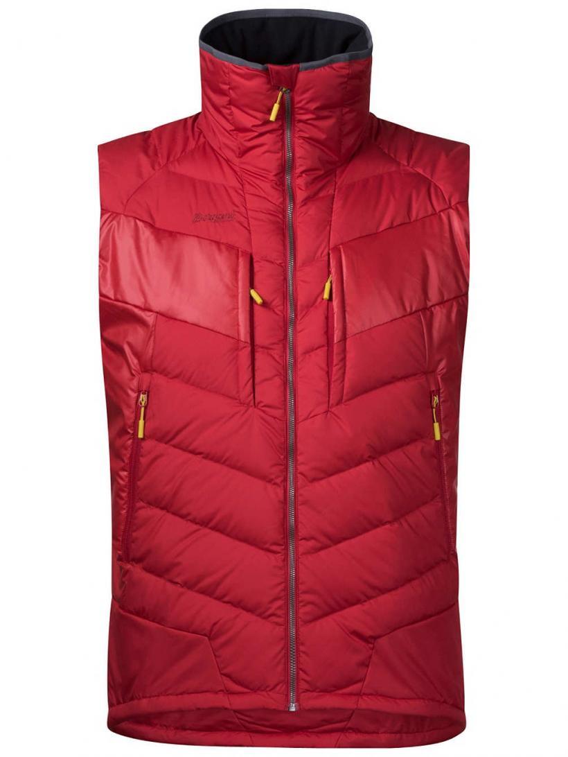 Bergans Nosi Hybrid Down Vest Red/Burgundy | Mens Jackets