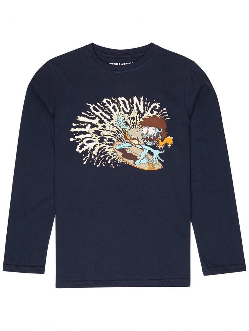 Billabong Slasher Long Sleeve T-Shirt Navy | Mens Longsleeves