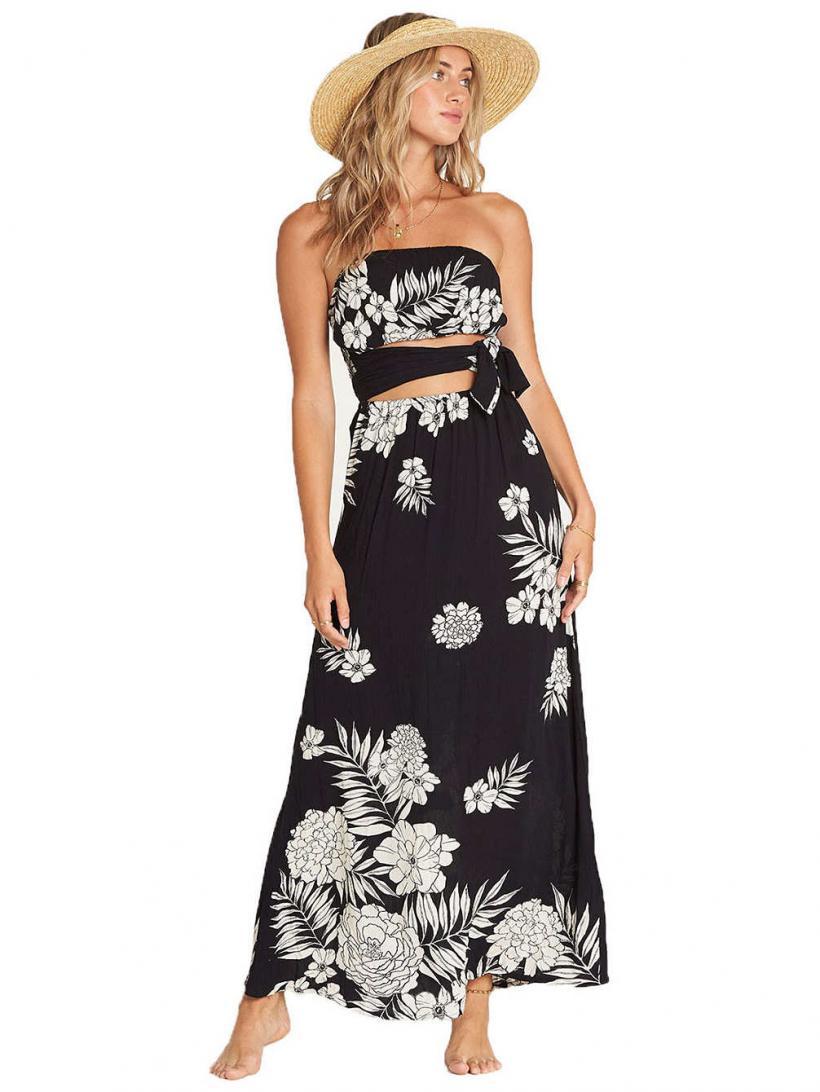 Billabong Slice N Dice Dress Black White | Womens Dresses