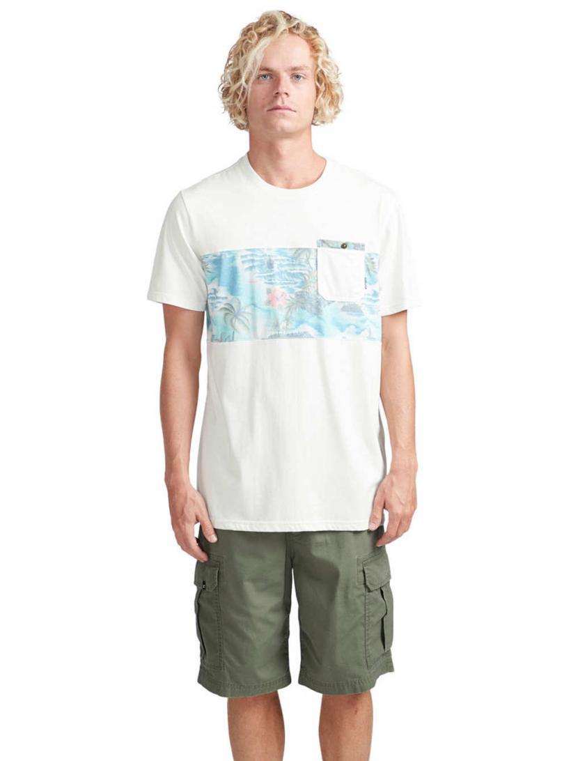 Billabong Tribong Crew T-Shirt Bone | Mens T-Shirts