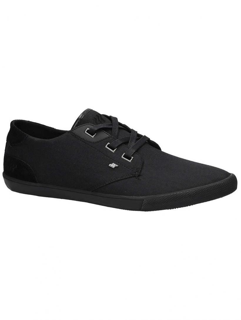 Boxfresh Stern Waxed Canvas Black/Black   Mens Sneakers