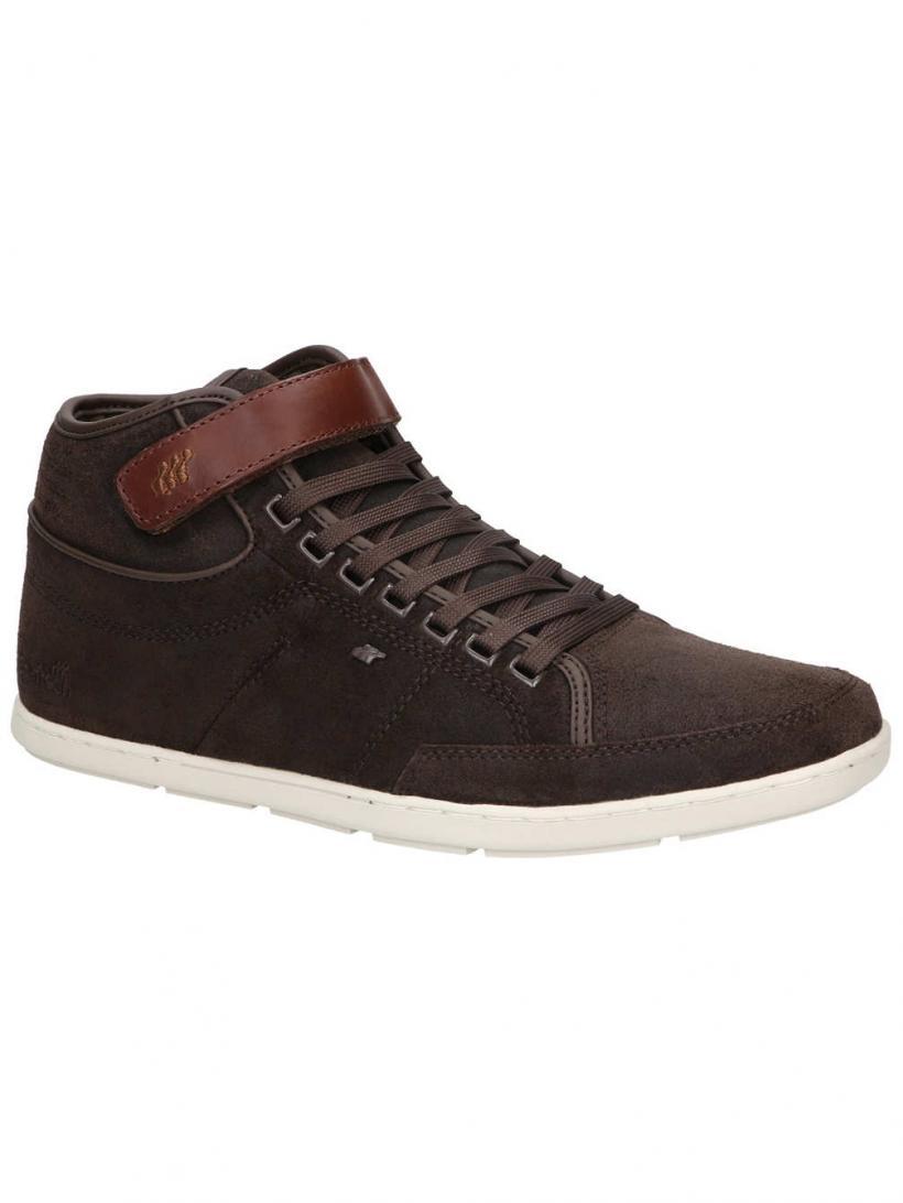 Boxfresh Swich Blok Waxed Suede Dark Brown | Mens Sneakers