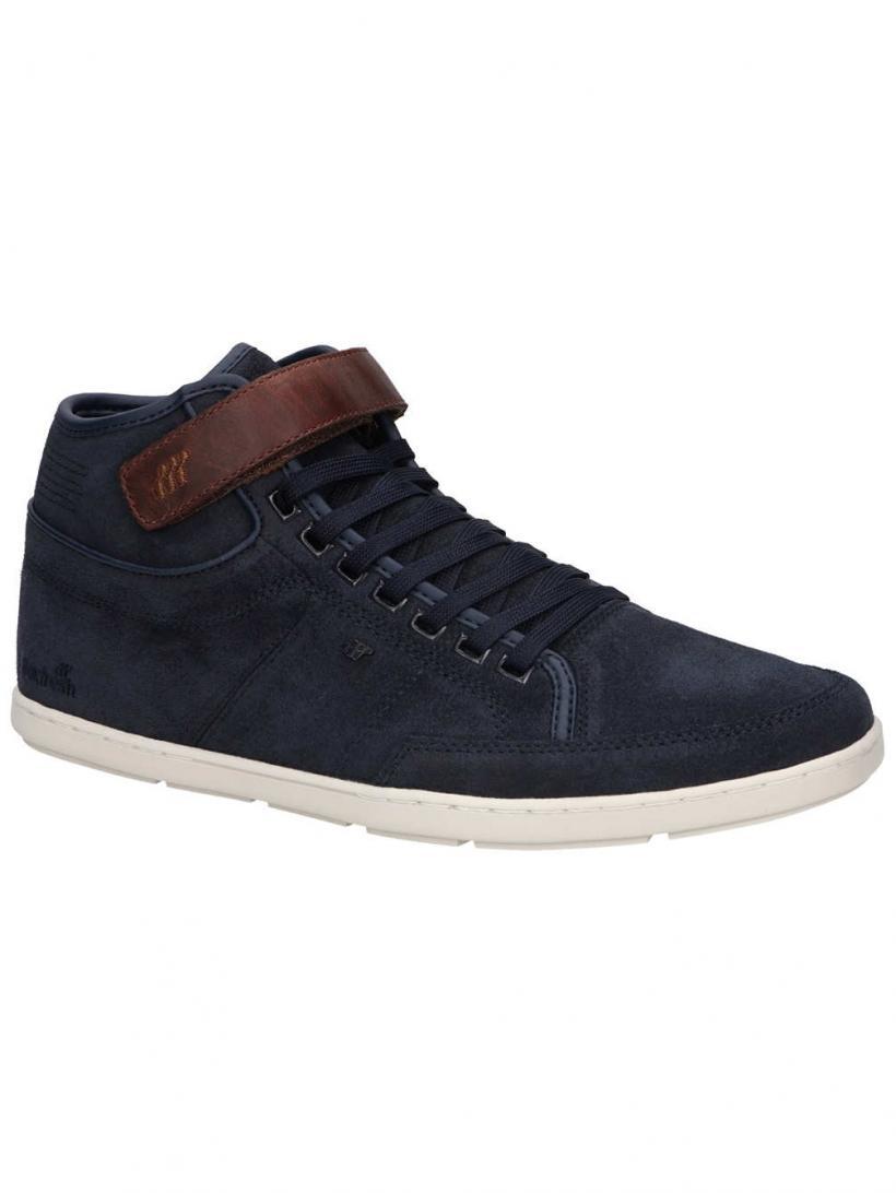 Boxfresh Swich Blok Waxed Suede Navy   Mens Sneakers