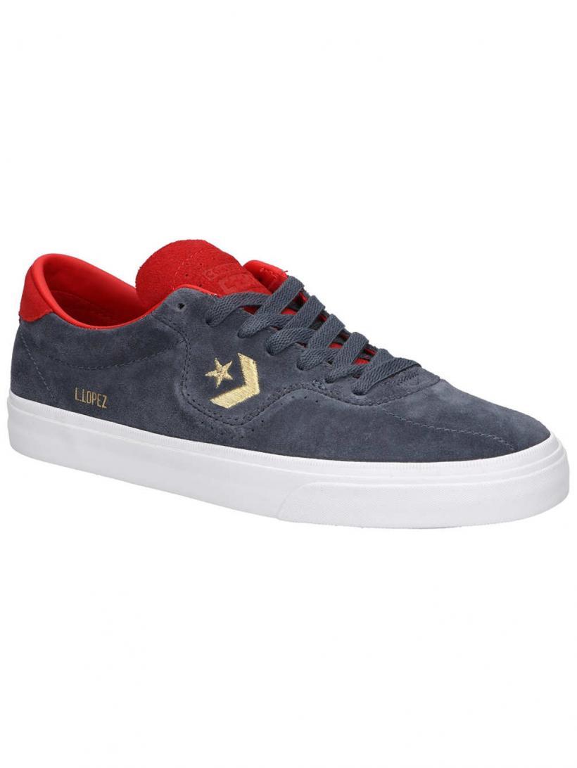Converse Louie Lopez Pro OX Sharkskin/Casino/White   Mens Skate Shoes