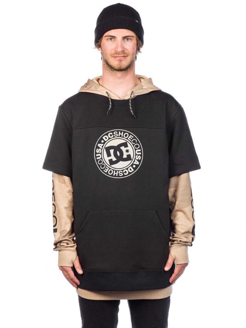 DC Dryden Fleece Pullover Black | Mens Pullovers