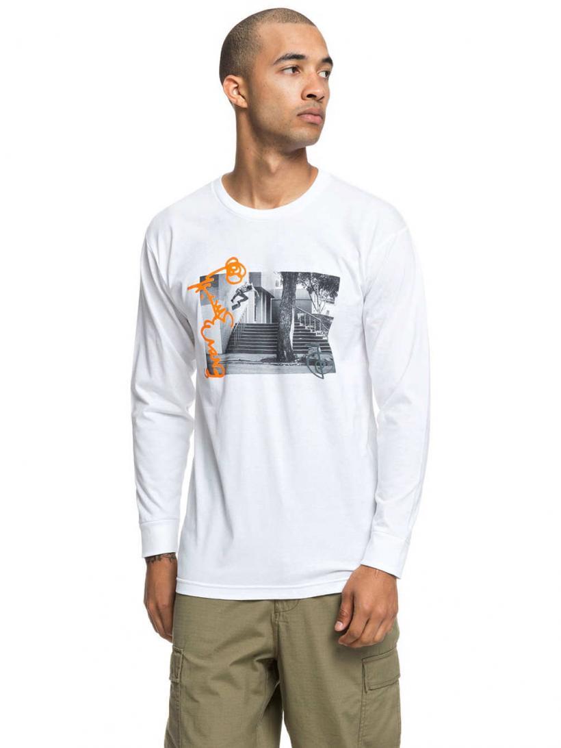 DC Evan Wall Ride Long Sleeve T-Shirt Snow White | Mens Longsleeves