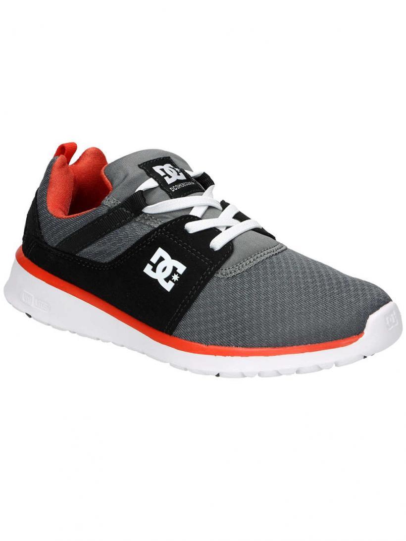 DC Heathrow Boys Grey/Orange/Grey   Mens Skate Shoes