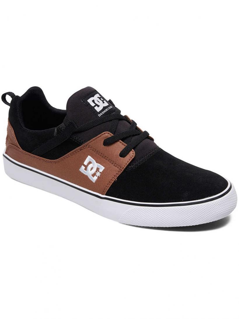 DC Heathrow Vulc Black/Brown/Black | Mens Sneakers