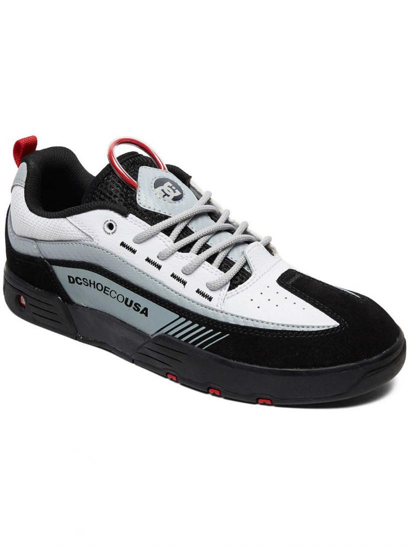 DC Legacy 98 Slim Black/White/Red | Mens Sneakers