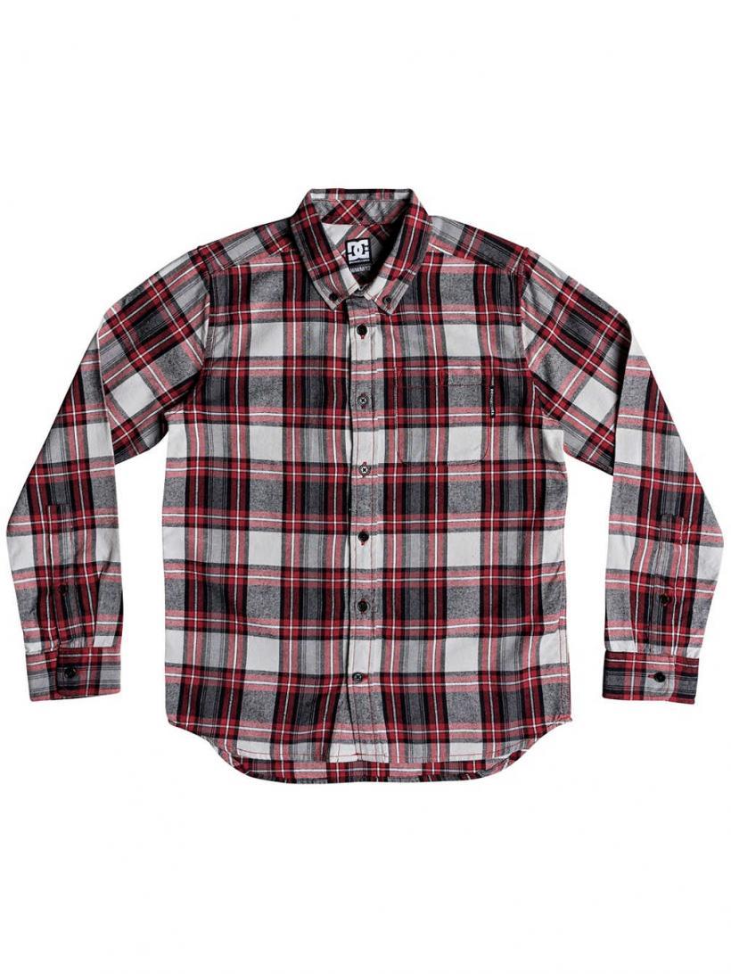 DC Northboat Shirt LS Tango Red | Mens Shirts