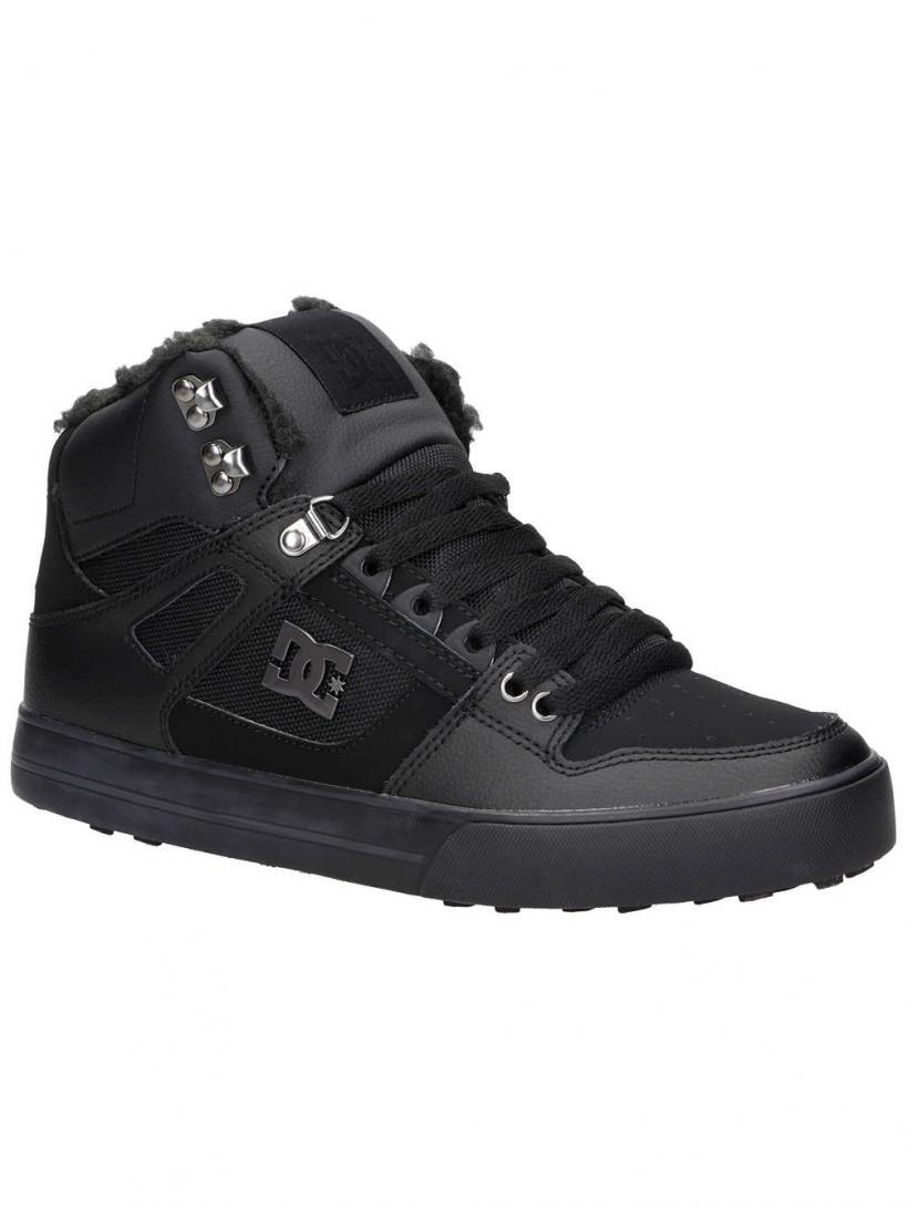 DC Pure High-Top WC WNT Black/Black/Black | Mens Winter Shoes