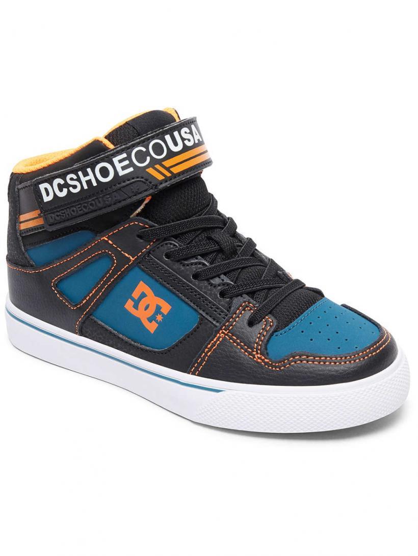 DC Pure HT EV Black/Orange/Blue | Mens Sneakers