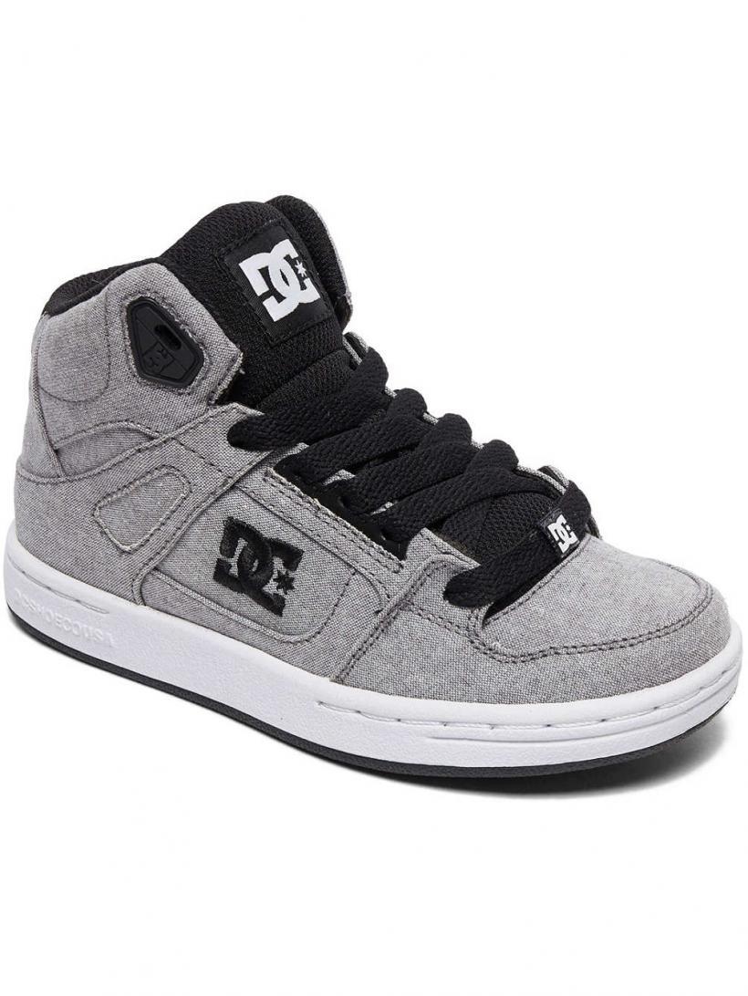 DC Pure HT TX SE Grey   Mens Sneakers