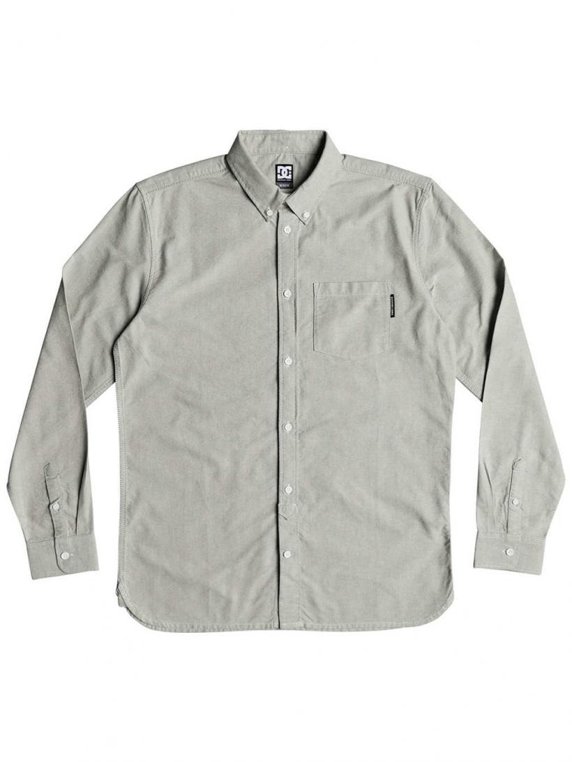 DC The Oxford Shirt LS Light Blue | Mens Shirts