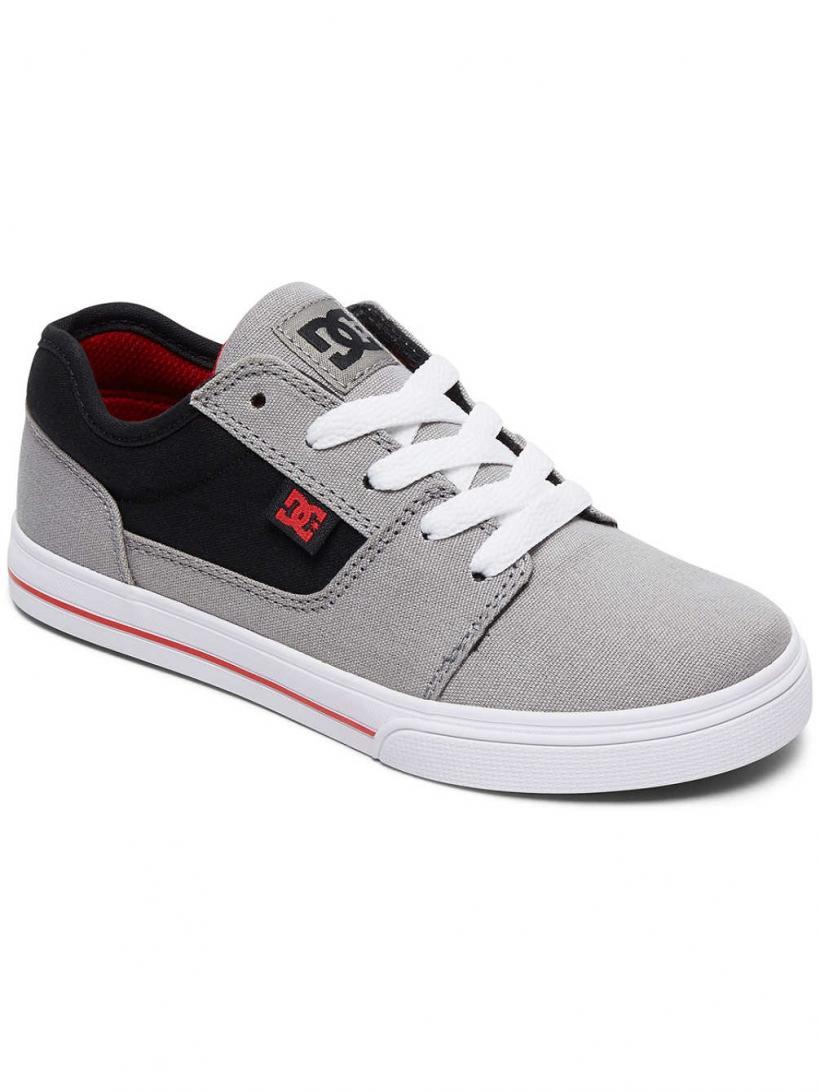 DC Tonik TX Grey/Black/Red | Mens Sneakers