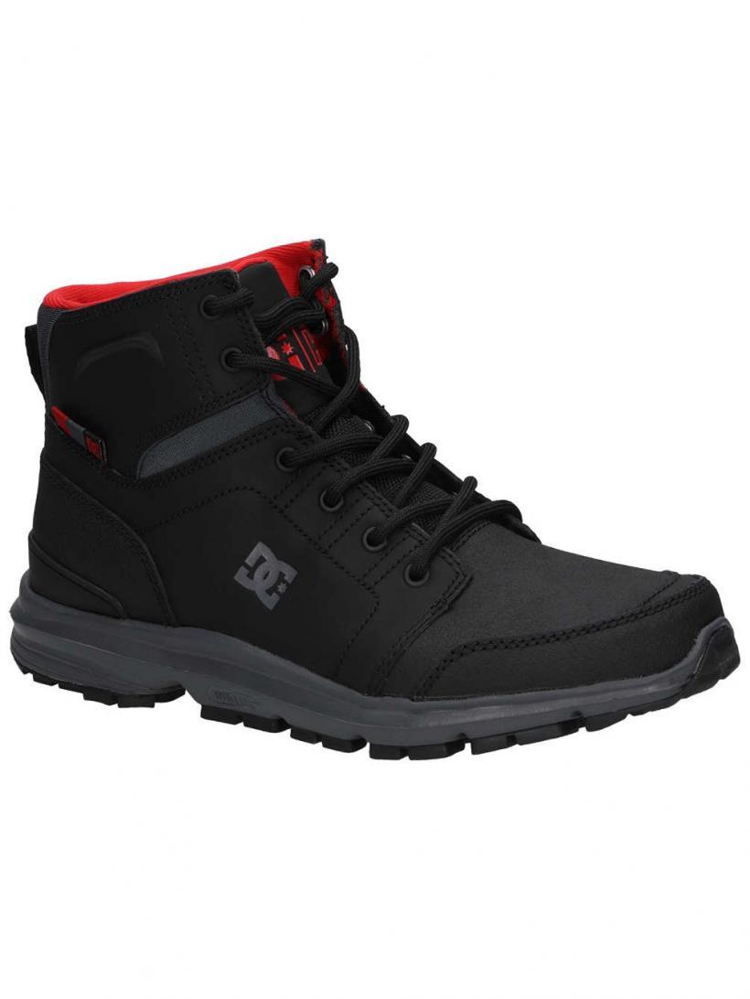 DC Torstein Black/Grey/Red | Mens Winter Shoes