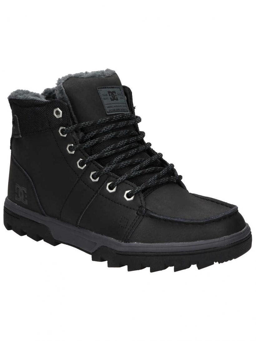 DC Woodland Black/Black/Grey | Mens Winter Shoes