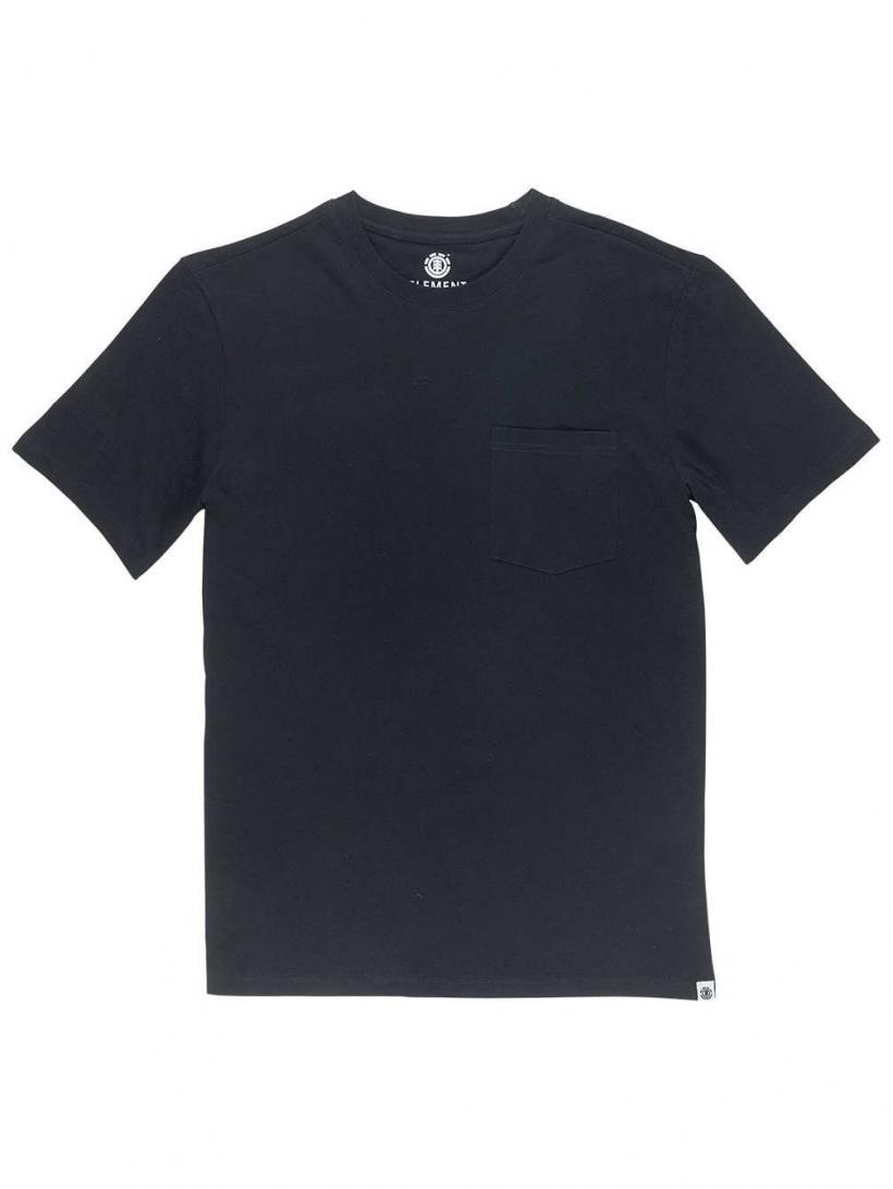 Element Basic Pocket Crew T-Shirt Flint Black | Mens T-Shirts