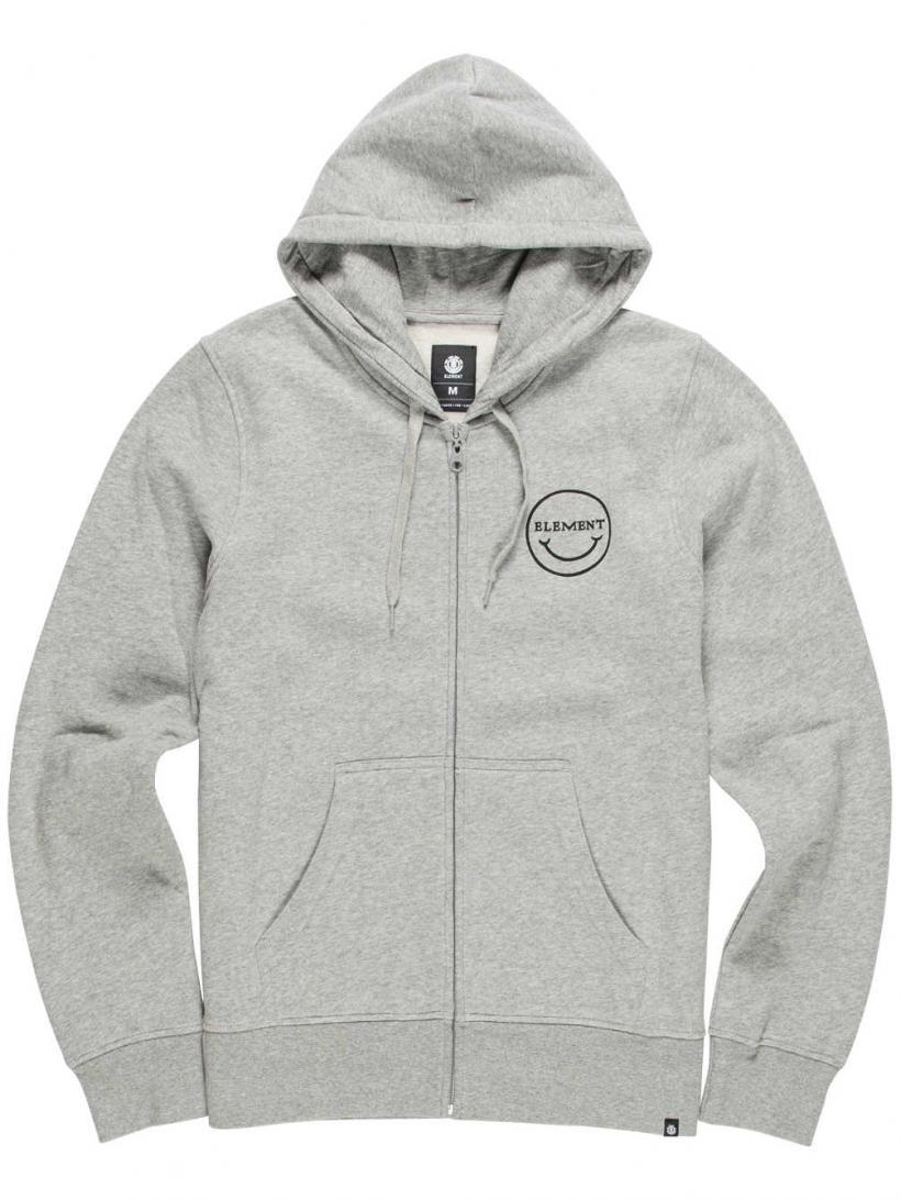 Element Mason Mc Fee Zip Hoodie Grey Heather | Mens Pullovers