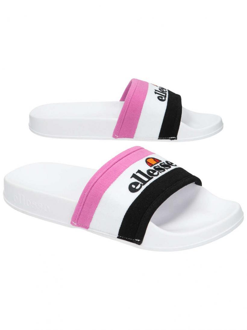 Ellesse Borgaro Black/White/Super Pink | Mens/Womens Sandals