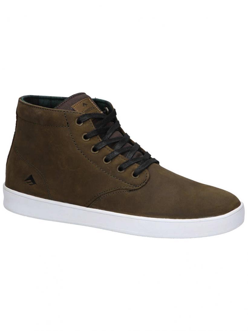 Emerica Romero Laced High Brown/White | Mens Sneakers