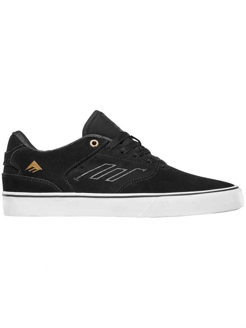 Emerica The Reynolds Low Vulc Black/Gold/White | Mens Skate Shoes