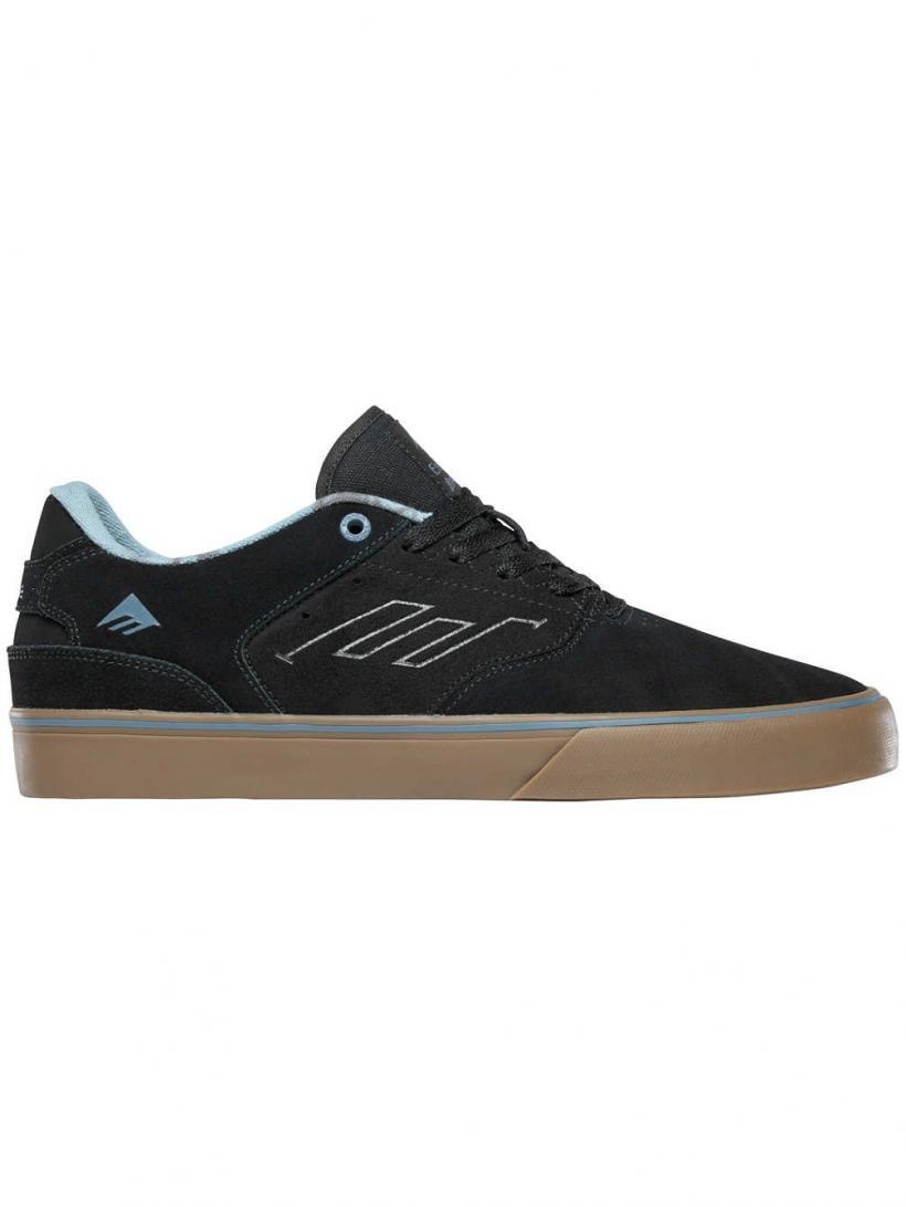 Emerica The Reynolds Low Vulc Black/Gum/Grey | Mens Skate Shoes