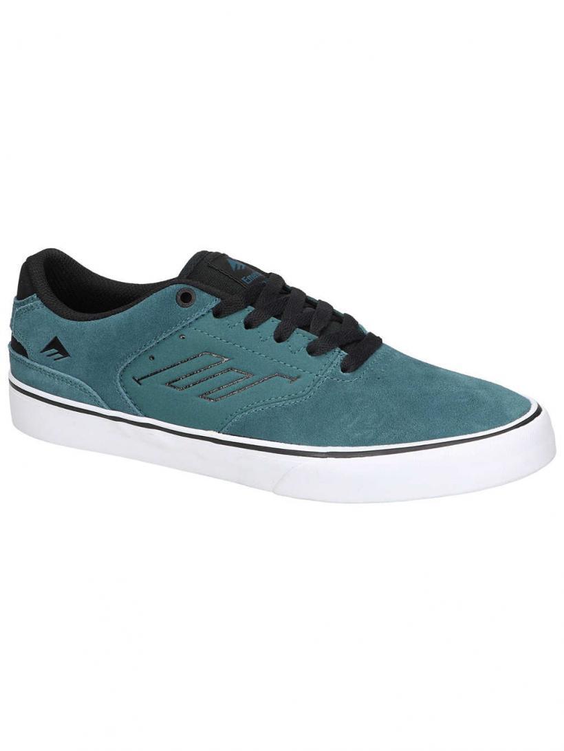 Emerica The Reynolds Low Vulc Teal/Black | Mens Skate Shoes