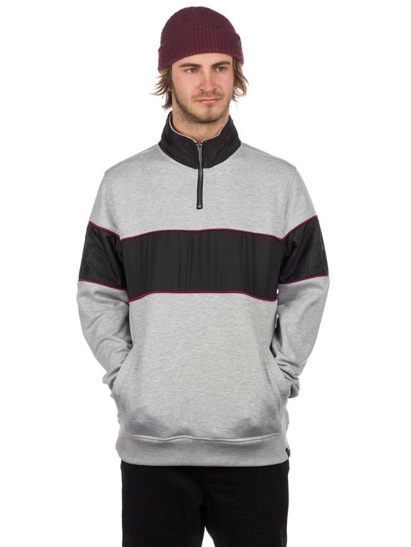 Empyre Refresh Half Zip Sweater Grey/Black | Mens Pullovers