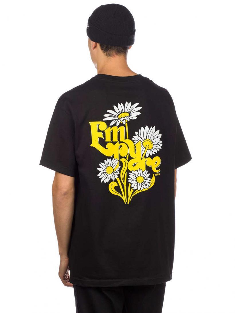 Empyre Retro Daisies T-Shirt Black   Mens T-Shirts