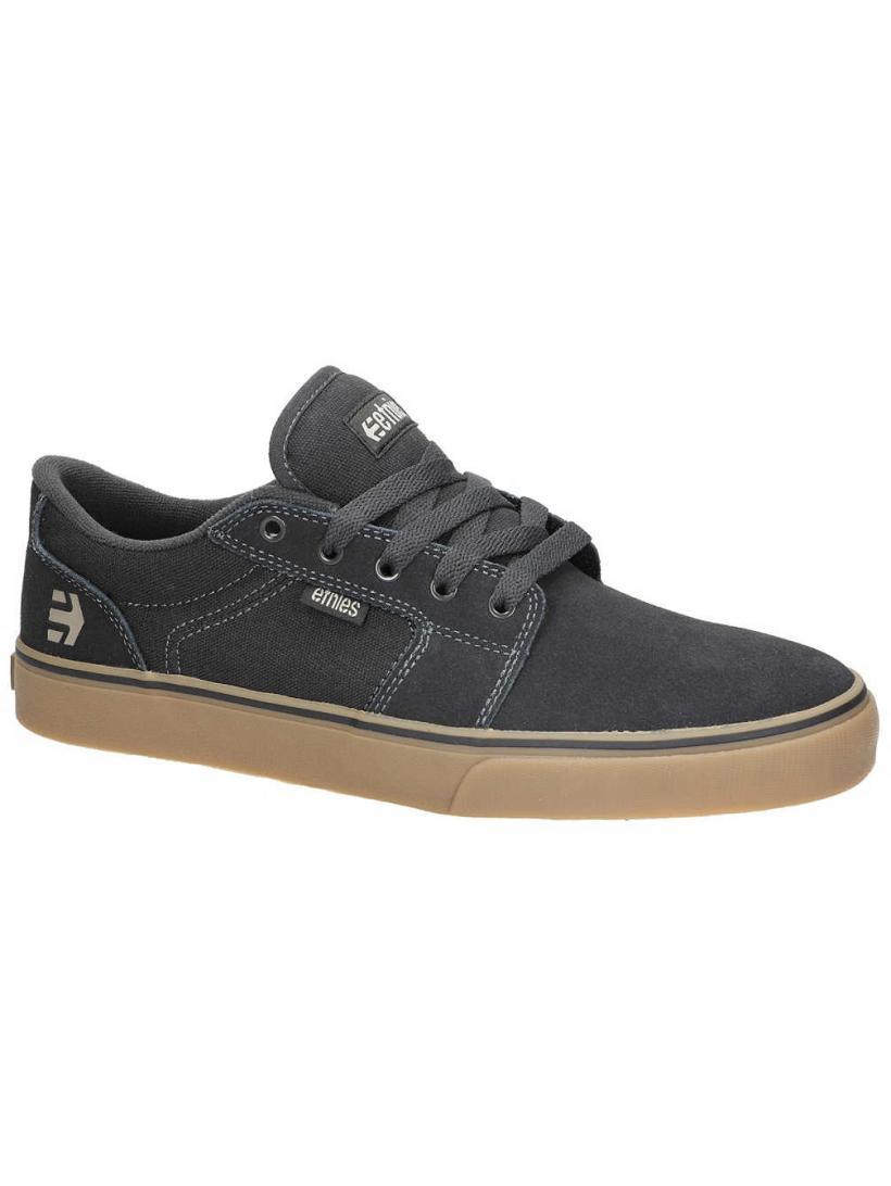 Etnies Barge LS Black/Charcoal/Gum | Mens Skate Shoes