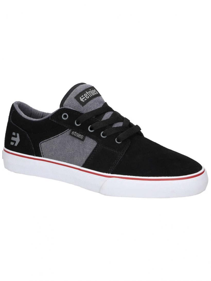 Etnies Barge LS Black/Charcoal/Silver | Mens Sneakers