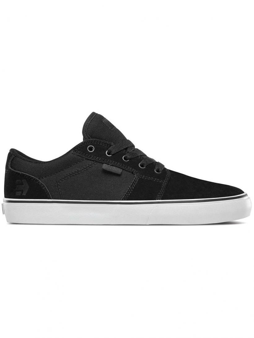 Etnies Barge LS Black/White/Black | Mens Skate Shoes