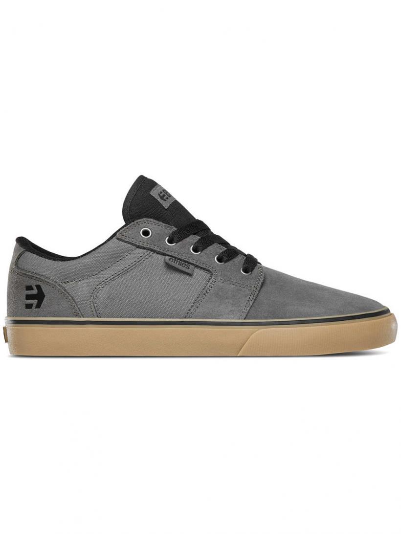 Etnies Barge LS Grey/Black/Gum | Mens Skate Shoes