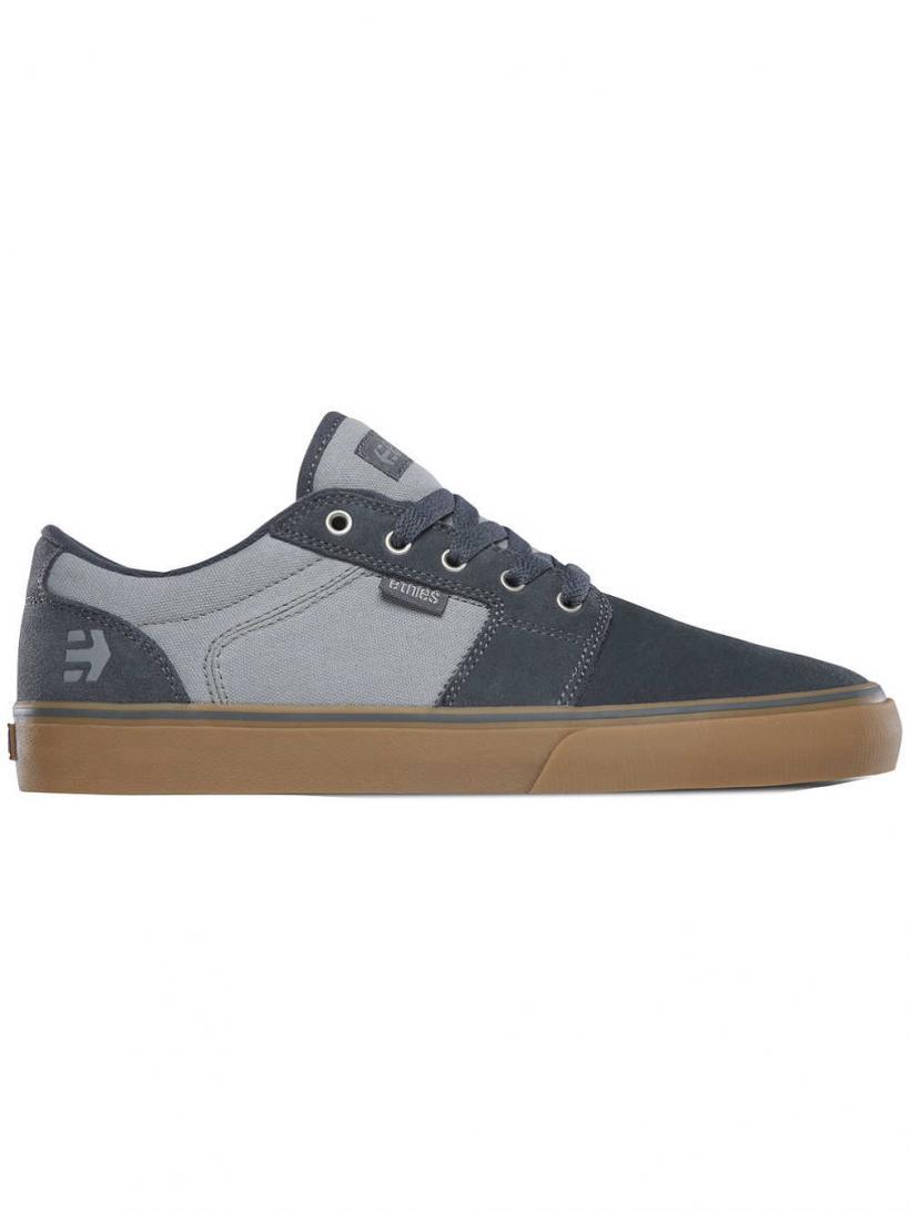 Etnies Barge LS Grey/Tan | Mens Skate Shoes
