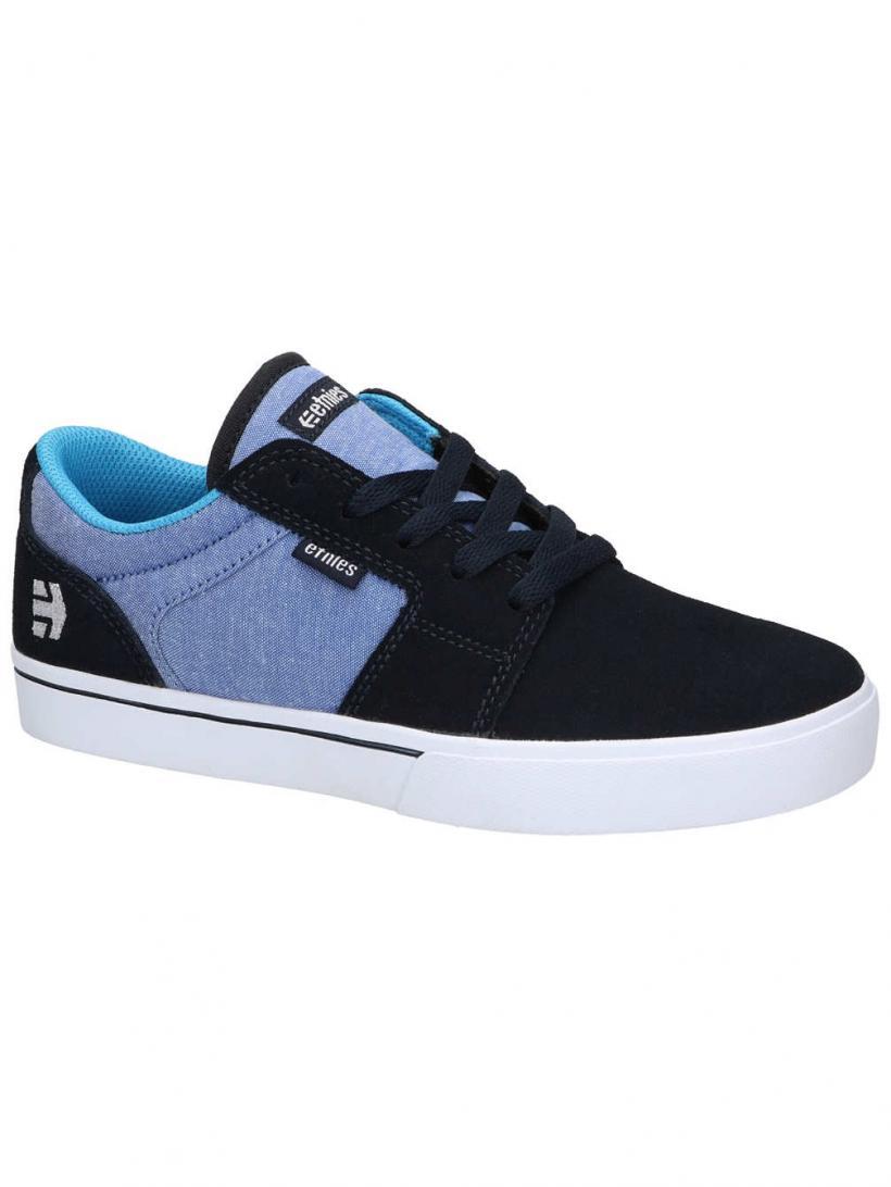 Etnies Barge LS Navy/Blue | Mens Skate Shoes
