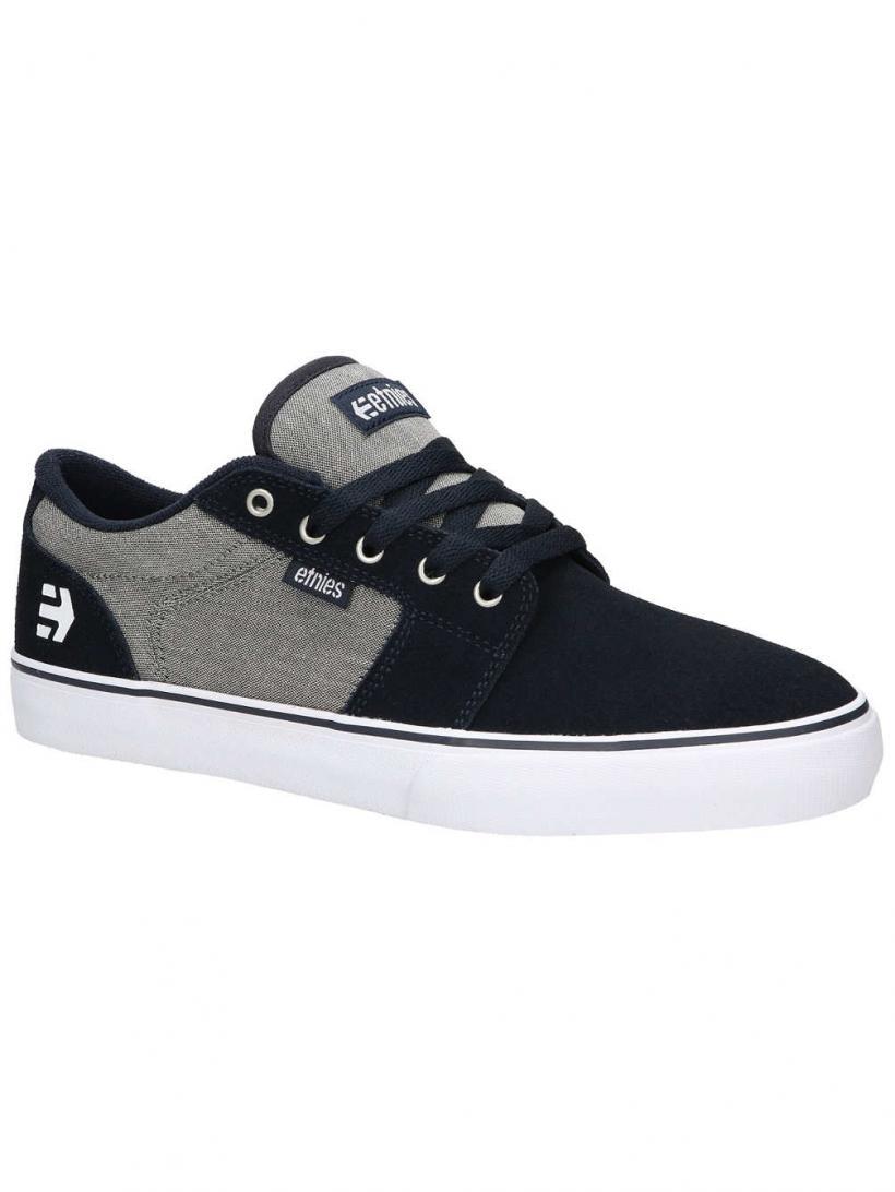 Etnies Barge LS Navy/Grey/Silver | Mens Skate Shoes