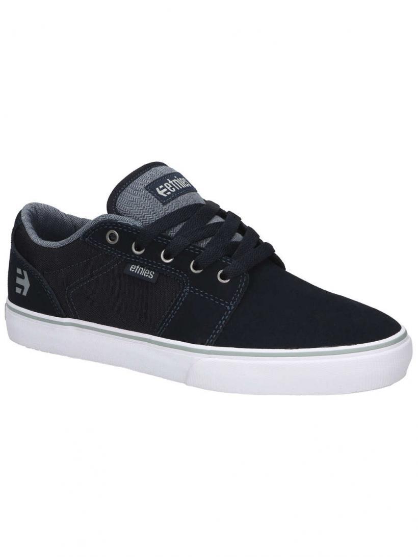 Etnies Barge LS Navy/Grey/White | Mens Skate Shoes
