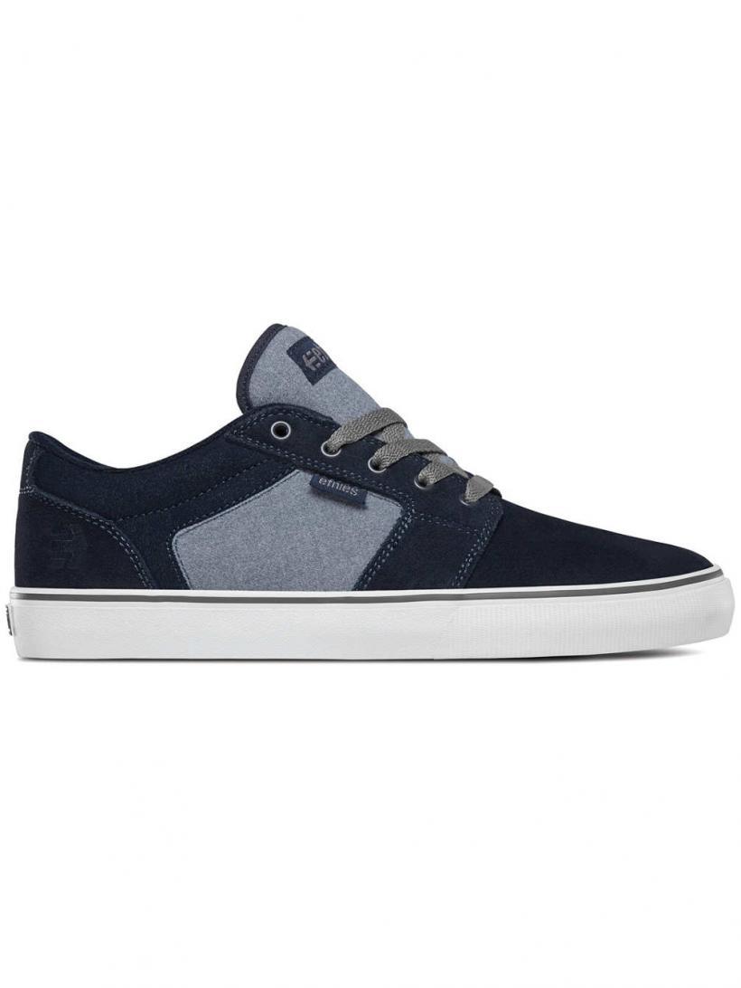 Etnies Barge LS Navy/Heather | Mens Skate Shoes